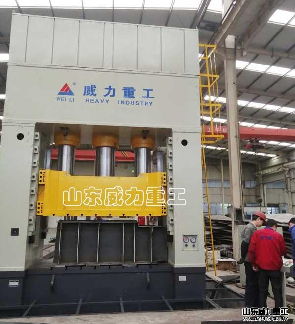 2000吨tie路厢式货che门板成型液压机