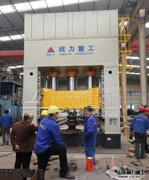 2000吨斗齿铲齿热压cheng型液压机