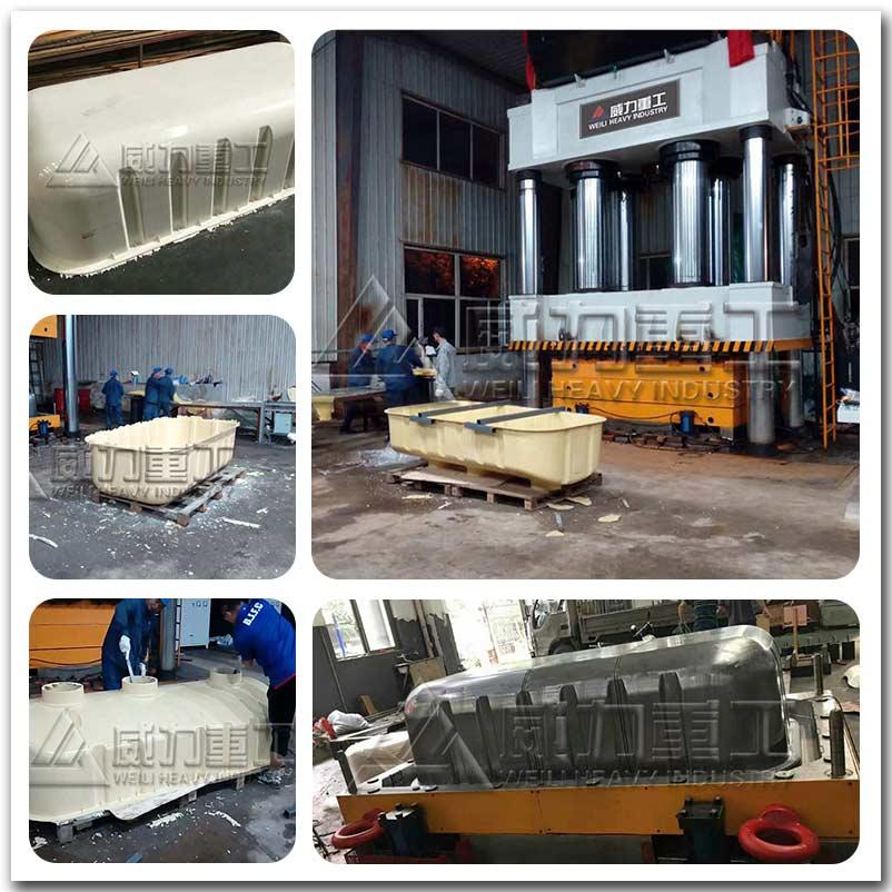 2000吨SMC玻璃钢模压化fen池液压ji